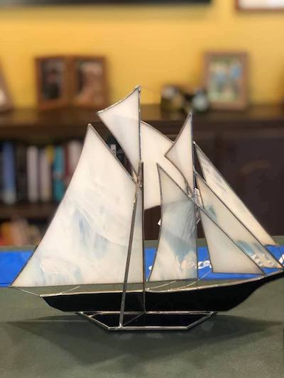 Championship winners received stained-glass Schooners on day two.