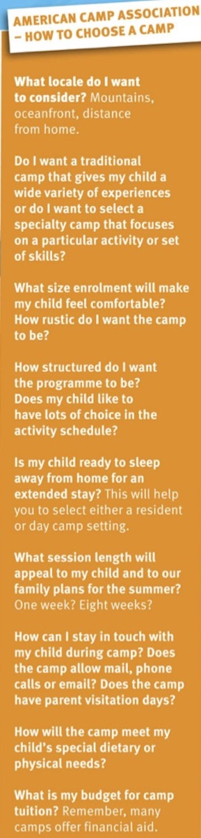 How to Choose a Camp