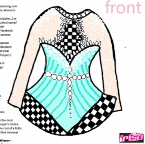The Icy Checkmate Dress